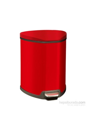 Primanova Pedallı Softclose Çöp Kovası Kırmızı 5 Lt D-15318