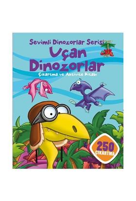 Sevimli Dinozorlar Serisi: Uçan Dinozorlar Çıkartma Ve Aktivite Kitabı (250 Çıkartma)-Kolektif