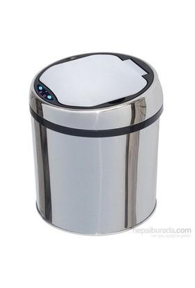 Hiper Sensörlü Çöp Kovası 6 Lt. Krom
