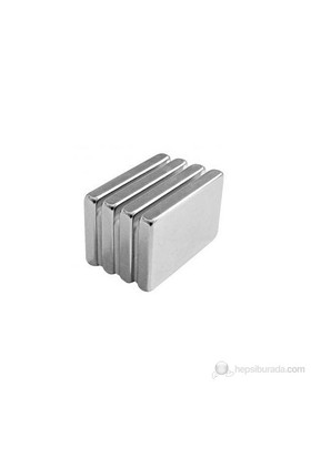 Neodyum Mıknatıs Blok 40X25x5 mm (2'li Paket)