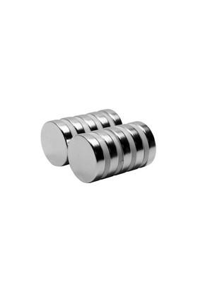 Neodyum Mıknatıs Silindir D18x4 mm (8'li Paket)
