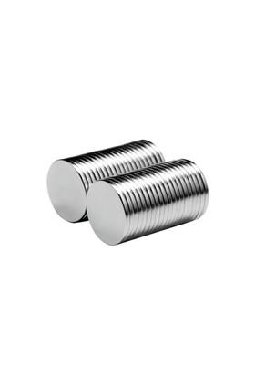 Neodyum Mıknatıs Silindir D12x1 mm (50'li Paket)