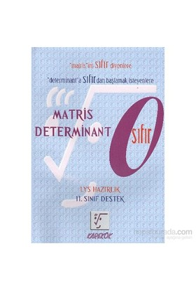 Karekök LYS Matris Determinant Sıfır (11. Sınıf Destek) - Muharrem Duş