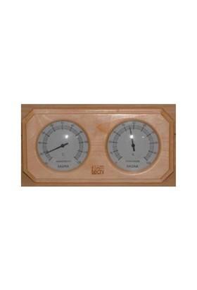 Fıntech Sauna Termometre-Higrometre Kombine Ahşap Th-Ac Model Çiftli