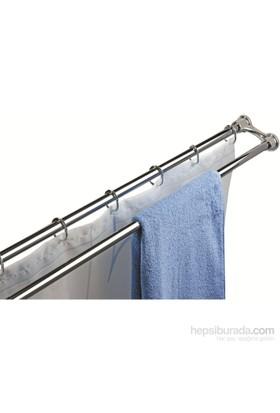 Doğuş Krom 2Li Banyo Perde Borosu Ve Havlu Askısı Set