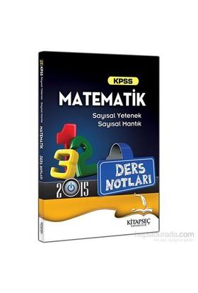 Kitapseç KPSS 2015 Matematik Ders Notları