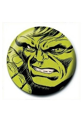 Pyramid International Rozet Marvel Retro Hulk Face