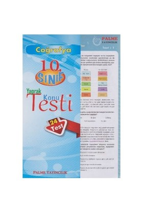 Palme 10. Sınıf Coğrafya Yaprak Konu Testi