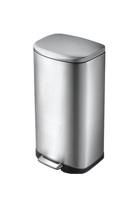 Primanova Paslanmaz Çelik Softclose Pedallı Çöp Kovası 6Lt D-15344