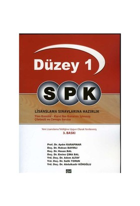 Spk Düzey 1-Abdulkadir Köroğlu