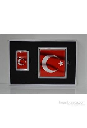 Daniel Duff Türk Bayrağı Temalı Çakmak Ve Tabaka Seti