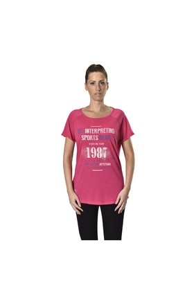 Kinetix A5132577 Kızıl Fusya Kadın T-Shirt