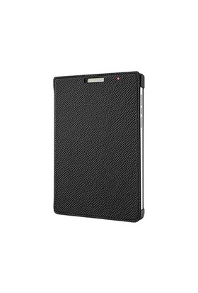 BlackBerry Passport Silver Edition Gerçek Deri Flip Kılıf