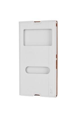Gpack Sony Xperia Z Ultra Kılıf Pencereli Milano - Beyaz