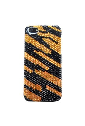 Resonare Apple iPhone 5 Tiger - Boncuk Desenli - Sari Siyah Kapak