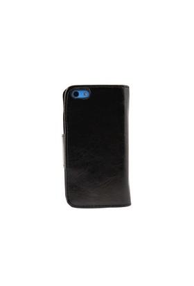 Duck Apple iPhone 5C Bileklikli Cüzdan Tip Kilif Siyah