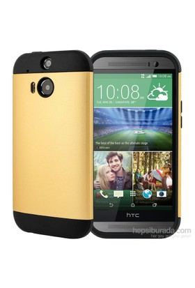 Microsonic Slim Fit Dual Layer Armor Htc One M8 Kılıf Sarı