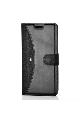 Gpack Samsung Galaxy A5 2016 Kılıf - A510 Kapaklı Cüzdan Kartvizitli - Siyah