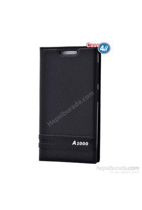 Case 4U Lenovo A1000 Gizli Mıknatıslı Kapaklı Kılıf Siyah