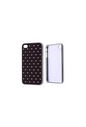 Ally İphone 4-4S Taşlı Plastik Kılıf