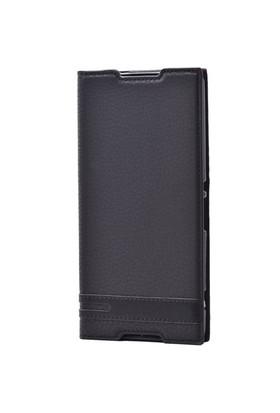 Lopard Nokia Lumia 535 Kılıf Sapphire Kapaklı Deri Görünümlü Mat