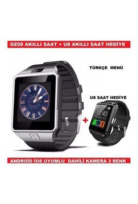 Akıllı Saat Dz09 Smart Watch Hediyeli - Kahverengi