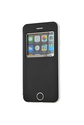 Yolope Apple İphone 6 Kılıf Pencereli Siyah