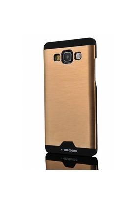 Coverzone Samsung Galaxy J2 Kılıf Metalize Sert Arka Kapak Altın