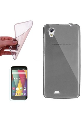 Cep Market General Mobile Discovery 2 Mini Kılıf 0.2Mm Antrasit Silikon - Cam