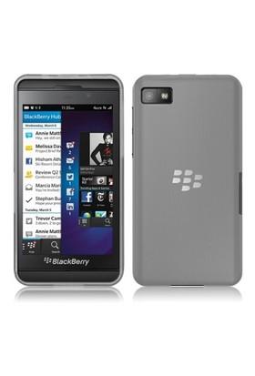 Microsonic Transparent Soft Blackberry Z10 Kılıf Beyaz