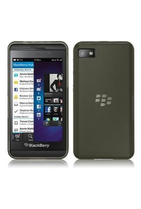 Microsonic Transparent Soft Blackberry Z10 Kılıf Siyah