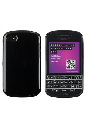 Microsonic Glossy Soft Blackberry Q10 Kılıf Siyah