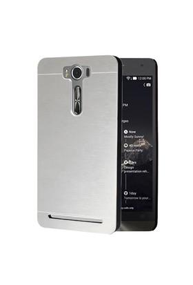 Microsonic Asus Zenfone Selfie Kılıf Hybrid Metal Gümüş