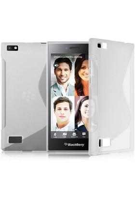 CoverZone Blackberry Z20 Kılıf Sline Dizayn Silikon Şeffaf