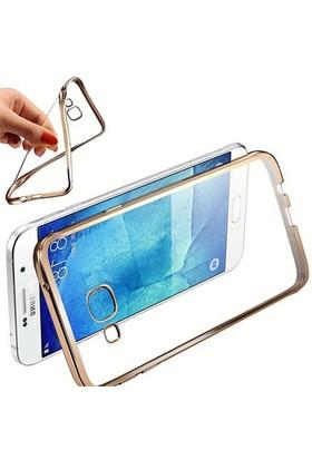 CoverZone Samsung Galaxy A5 2016 Kılıf A510 Metalize Kenar Silikon Gold