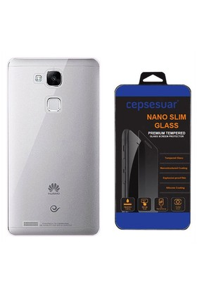 Cepsesuar Huawei Ascend Mate 7 Kılıf Silikon 0.2 Mm Şeffaf - Cam