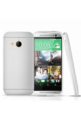 Microsonic Transparent Soft Htc One Mini 2 (M8 Mini) Kılıf Beyaz