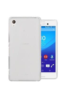 Microsonic Transparent Soft Sony Xperia M4 Aqua Kılıf Beyaz