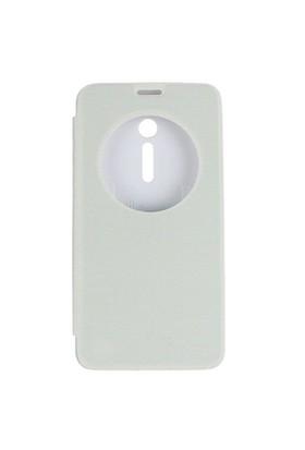 Case 4U Asus Zenfone 2 Flip Cover Beyaz ( Uyku Modlu)