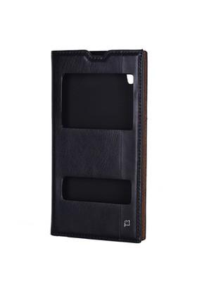 Gpack Sony Xperia T3 Kılıf Pencereli Milano - Siyah