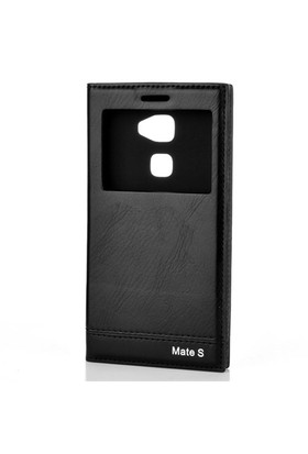 Gpack Huawei Mate S Kılıf Pencereli Kapaklı Milano - Siyah