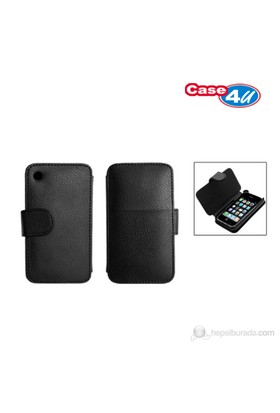 Case 4U Apple iPhone 3GS Kapaklı Kılıf*