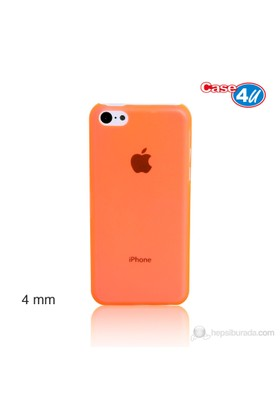 Case 4U iPhone 5c Turuncu Kapak Ultra İnce 0,4 mm