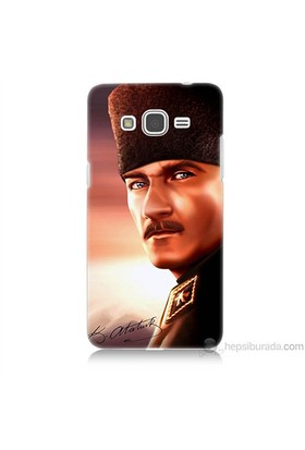 Teknomeg Samsung Galaxy Grand Prime Kapak Kılıf Mustafa Kemal Baskılı Silikon