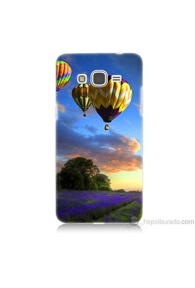 Teknomeg Samsung Galaxy Grand Prime Kapak Kılıf Uçan Balon Baskılı Silikon
