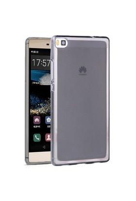Microsonic Huawei Ascend P8 Kılıf Transparent Soft Siyah