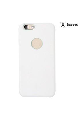 Baseus Thin Case (1mm) iPhone 6 Plus Arka Kapak - Beyaz (Suni Deri)