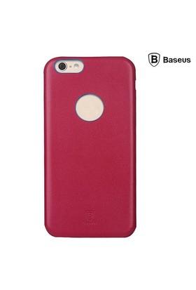 Baseus Thin Case (1mm) iPhone 6 Plus Arka Kapak - Kırmızı (Suni Deri)