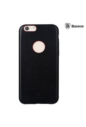 Baseus Thin Case (1mm) iPhone 6 Plus Arka Kapak - Siyah (Suni Deri)