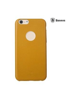 Baseus Thin Case (1mm) iPhone 6 Plus Arka Kapak - Sarı (Suni Deri)